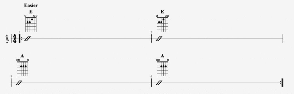 anenome chords easy