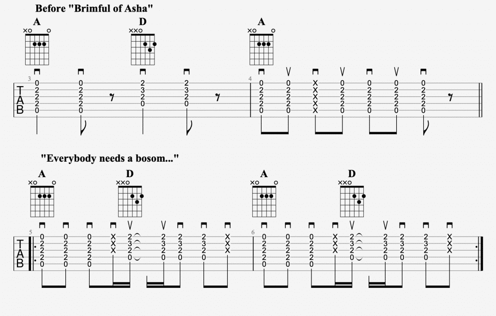 brimful of asha chords 2